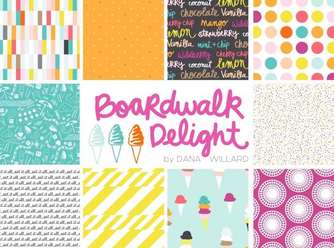 Boardwalk Delight Fabric Collection by Dana Willard for Art Gallery Fabrics