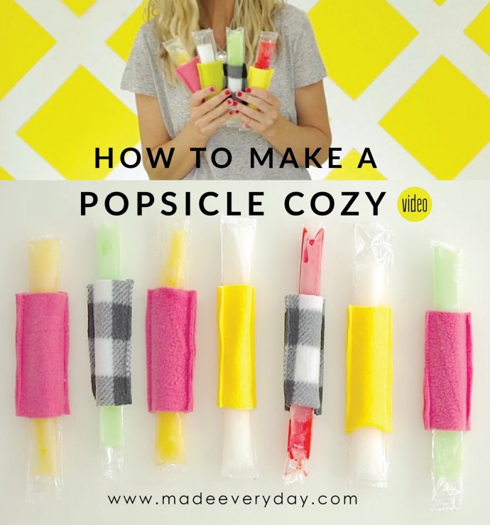How to make a Popsicle Cozy on MADE Everyday with Dana Willard