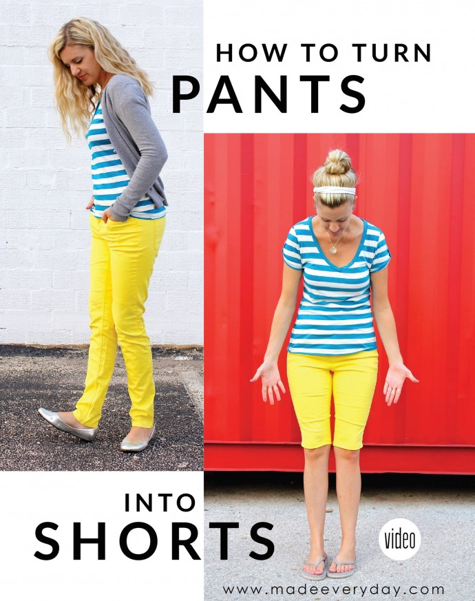 How to turn pants into shorts and how to hem all types of Pants on MADE Everyday with Dana Willard