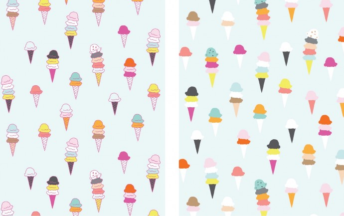 I scream You scream fabric design process on MADE Everyday