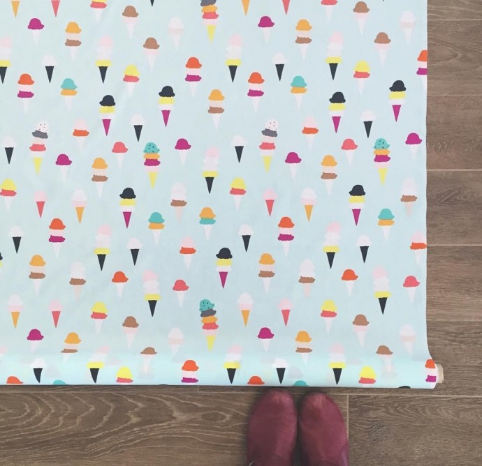 I scream You scream fabric from Boardwalk Delight fabric collection by Dana Willard on MADE Everyday
