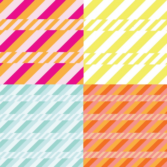 Soda Straws Fabric from Boardwalk Delight by Dana Willard on MADE Everyday blog