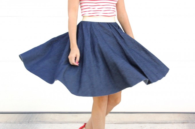 How to sew a circle skirt - video tutorial from MADE Everyday