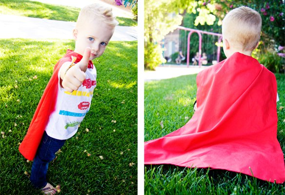 How to sew a cape - tutorial from How Does She?