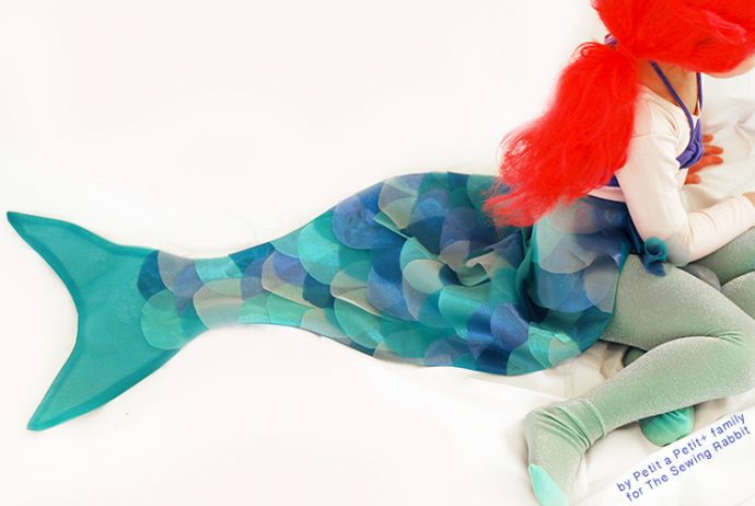 Mermaid Halloween costume sewing tutorial from The Sewing Rabbit