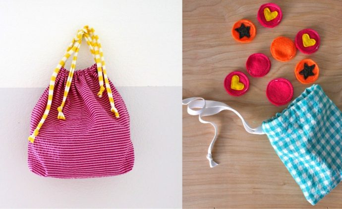 How to Sew a Drawstring Bag - video tutorial from MADE Everyday with Dana