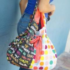 Boardwalk Delight fabric collection designed by Dana Willard for Art Gallery Fabrics - Capri Bag sewing pattern from Pat Bravo