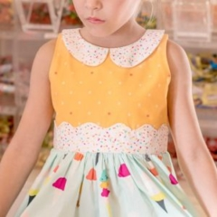 Boardwalk Delight fabric collection designed by Dana Willard for Art Gallery Fabrics - apparel by Little Lizard King