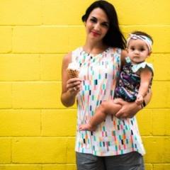 Boardwalk Delight fabric collection designed by Dana Willard for Art Gallery Fabrics - knit apparel by Sew Caroline