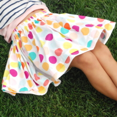 Boardwalk Delight fabric collection designed by Dana Willard for Art Gallery Fabrics - skirt by You & Mie