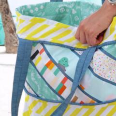Boardwalk Delight fabric collection designed by Dana Willard for Art Gallery Fabrics - Sorbet Tote FREE PATTERN