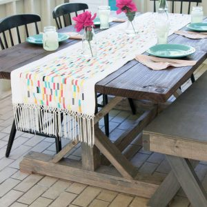 Boardwalk Delight fabric collection designed by Dana Willard for Art Gallery Fabrics - table runner by Melly Sews