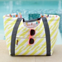 Boardwalk Delight fabric collection designed by Dana Willard for Art Gallery Fabrics - Poolside Tote by Anna Graham