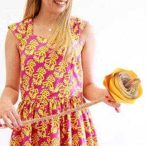 Fiesta Fun fabric collection designed by Dana Willard for Art Gallery Fabrics - Sewaholic Cambie Dress made in Desert Flor Summer print
