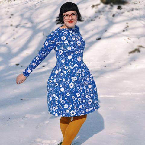 Fiesta Fun fabric collection designed by Dana Willard for Art Gallery Fabrics | Gable Dress pattern from Jennifer Lauren Handmade