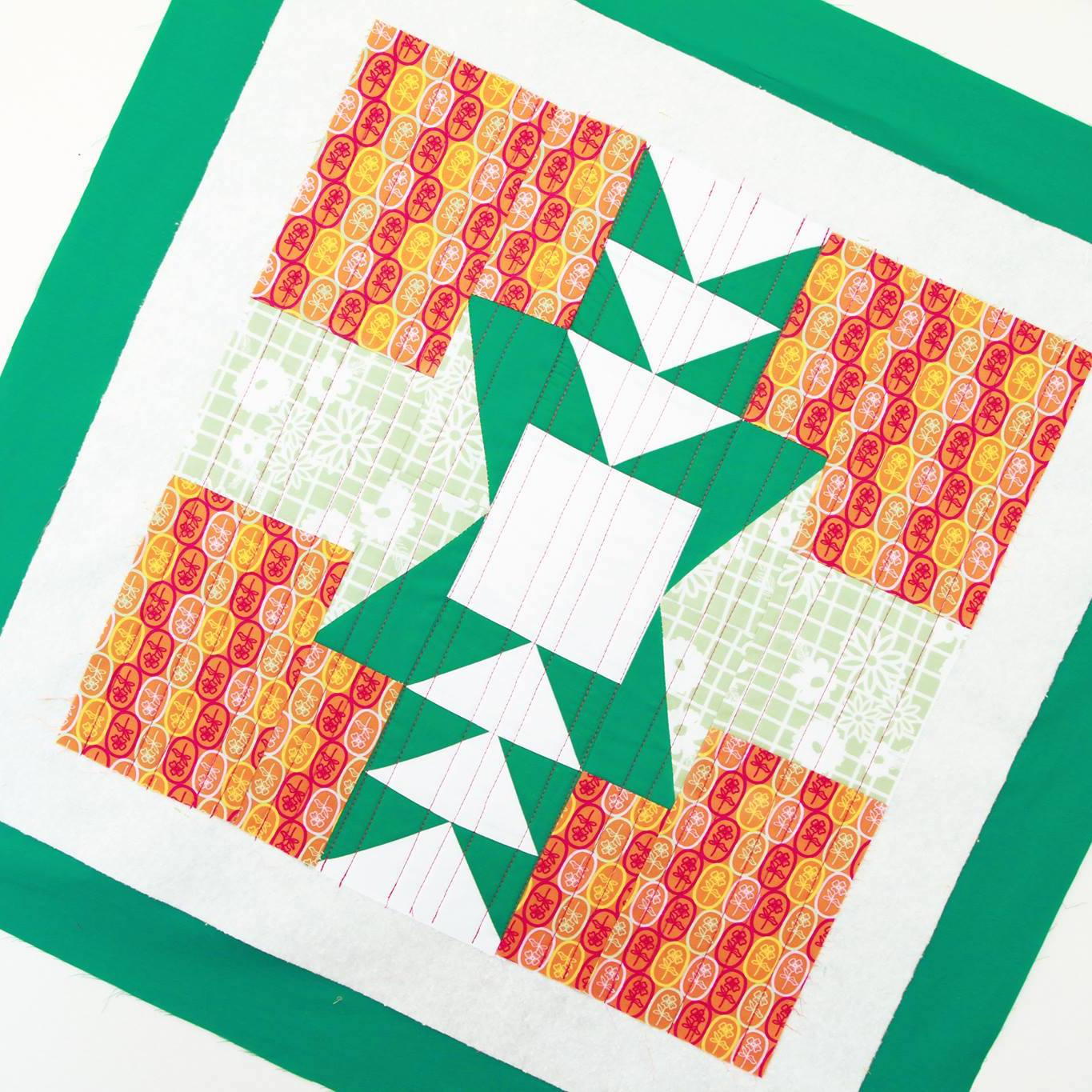 Fiesta Fun fabric collection designed by Dana Willard for Art Gallery Fabrics | Florita Party and Papel Picado Menta prints | FREE Imperial Token quilting pattern