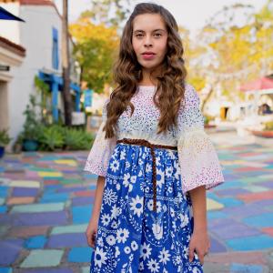 Fiesta Fun fabric collection designed by Dana Willard for Art Gallery Fabrics | Piñata Confetti + Mexican Dress Midnight prints | Matilda Dress for tweens sewing pattern from Violette Field Threads