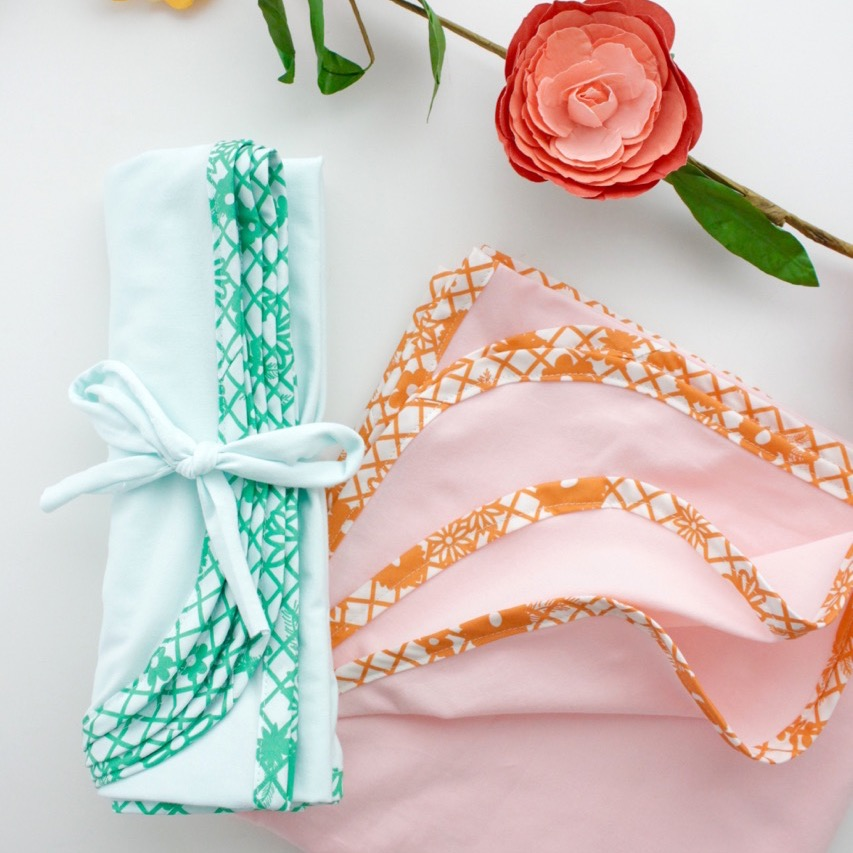 Fiesta Fun fabric collection designed by Dana Willard for Art Gallery Fabrics | Papel Picado prints in Verde and Naranja | FREE baby blanket sewing tutorial and video from MADE Everyday
