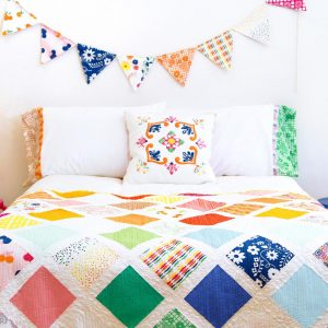 Fiesta Fun fabric collection designed by Dana Willard for Art Gallery Fabrics - download FREE Fiesta Garden quilt pattern