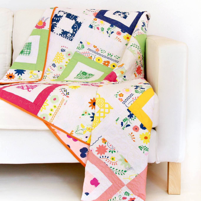 Fiesta Fun fabric collection designed by Dana Willard for Art Gallery Fabrics - download FREE Jollity quilt pattern