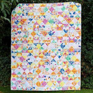 Fiesta Fun fabric collection designed by Dana Willard for Art Gallery Fabrics | quilt quarter square triangles