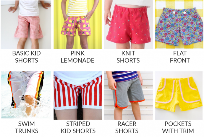 KID Shorts sewing pattern from MADE Everyday with Dana