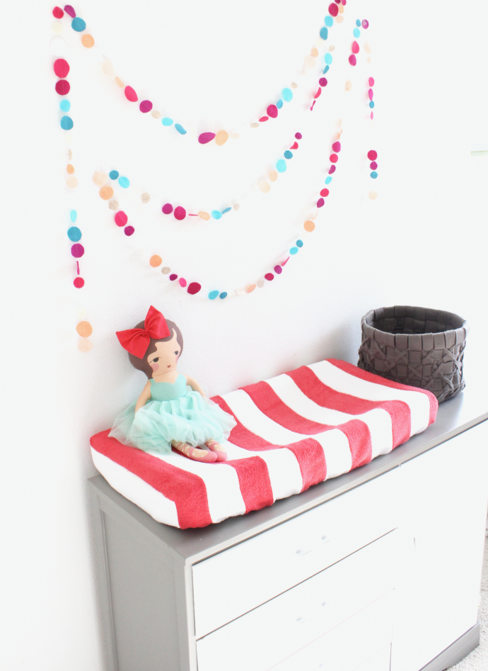 DIY Stripes on fabric + How to make a baby Changing Pad Cover on MADE Everyday with Dana Willard, plus a VIDEO version