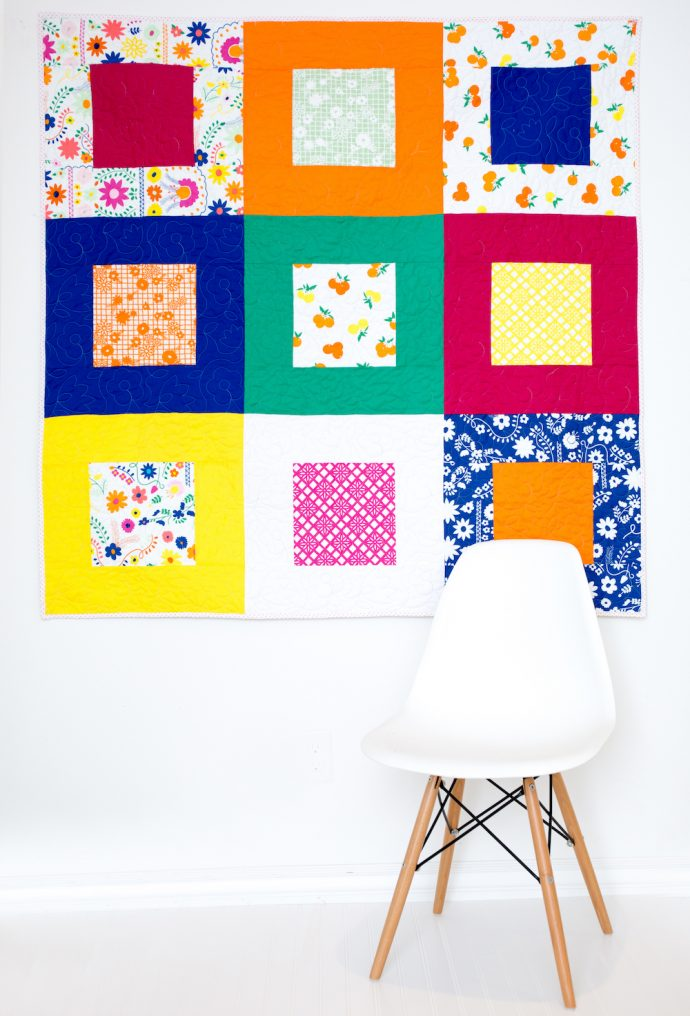 Fiesta Fun fabric collection by Dana Willard for Art Gallery Fabrics - picnic quilt tutorial from Simple Simon and Co.