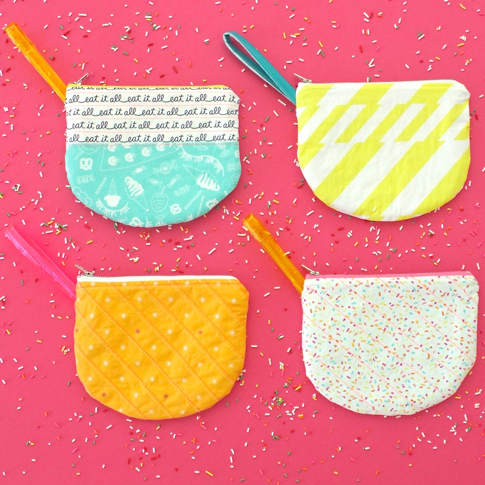 Parfait Pouch sewing pattern by MADE Everyday | Boardwalk Delight Fabric from Art Gallery Fabrics designed by Dana Willard