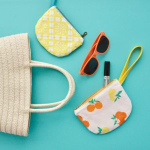 Parfait Pouch sewing pattern by MADE Everyday | Fiesta Fun Fabric from Art Gallery Fabrics designed by Dana Willard
