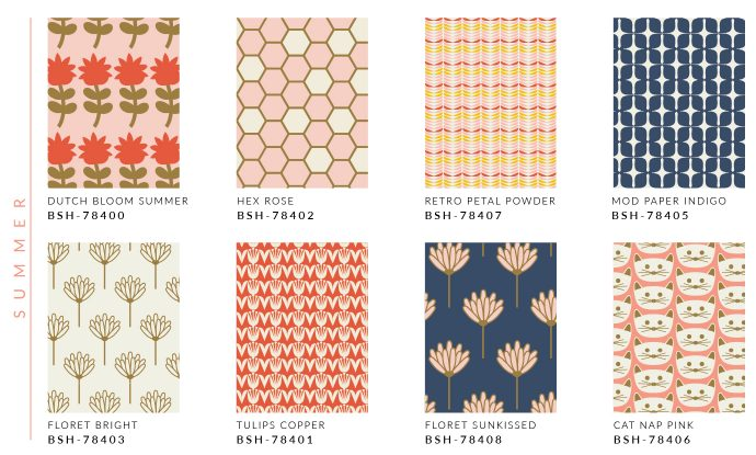 Blush fabric collection by Dana Willard for Art Gallery Fabrics