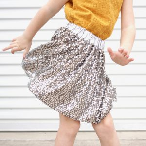 How to sew a lined skirt from sequin (or other fancy!) fabrics | video tutorial from MADE Everyday with Dana