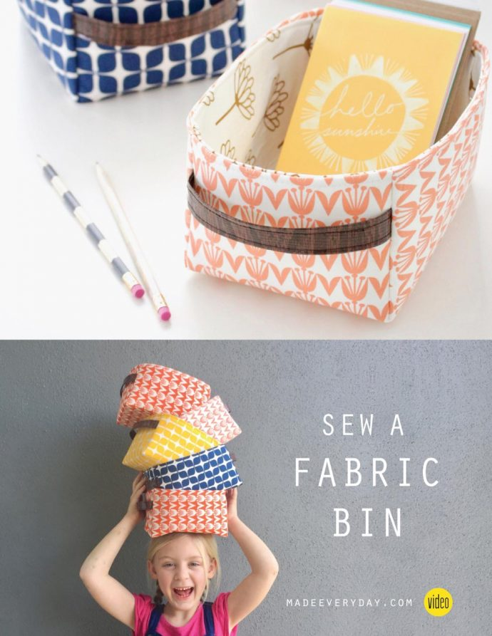 Sew a Fabric Storage Bin in any size | Video tutorial from MADE Everyday with Dana | Hold It Bin sewing pattern