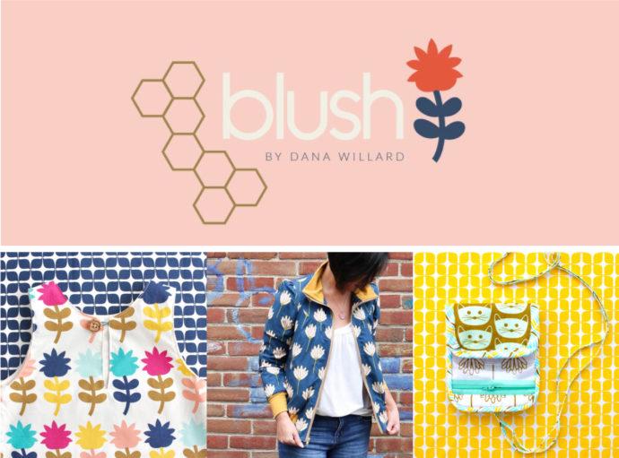 Blush fabric collection by Dana Willard for Art Gallery Fabrics