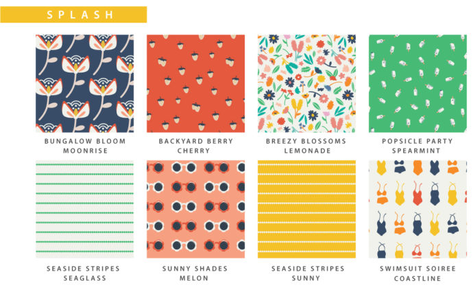 Summer Side fabric collection from Dana Willard of MADE Everyday | Manufactured by Art Gallery Fabrics